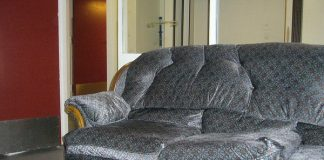 Leather Fainting Couch
